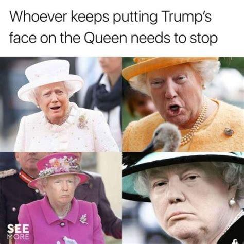 donald trump queen meme queen elizabeth meme tumblr