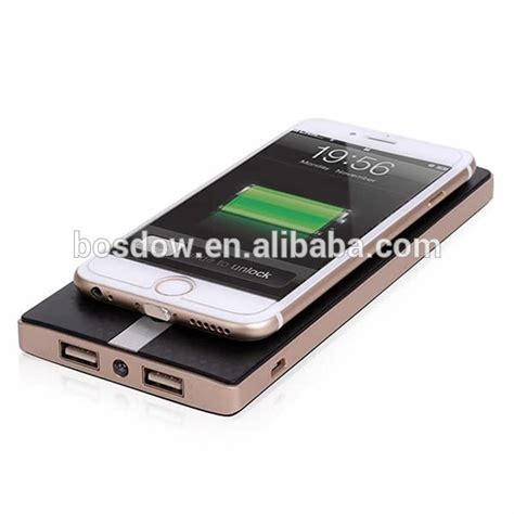 Wireless Charger Samsung A8 bs w80a high quality ultra slim wireless power bank 8000mah portable qi wireless charger for