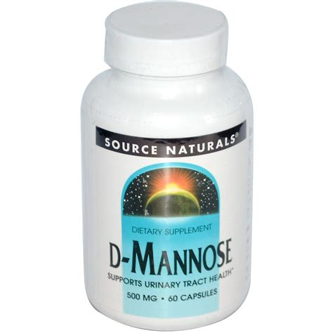 supplement d mannose source naturals d mannose 500 mg 60 capsules iherb