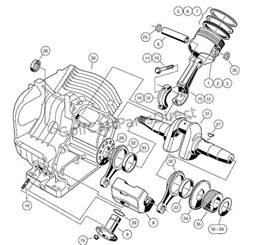 engine fe290 engine crankcase and crankshaft club