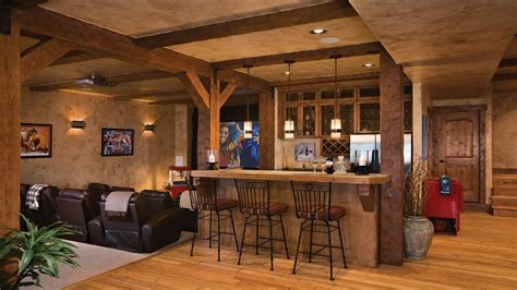 Rustic Basement Makeovers Rustic Basement Bar Design Ideas