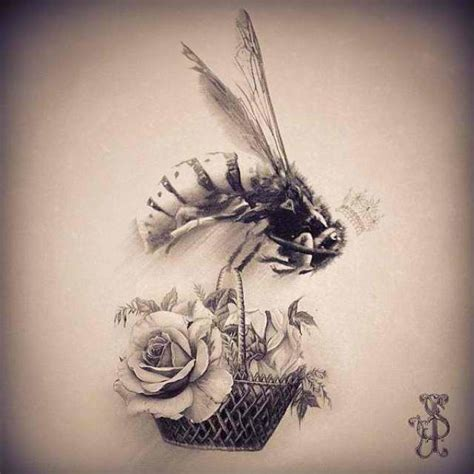 rose and bee tattoo best 25 bee ideas on bee