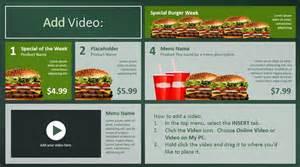 restaurant menu board templates create digital menu boards with powerpoint