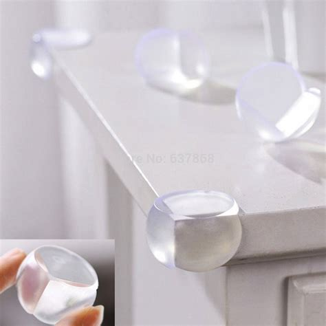 rubber protectors for glass tables 5pc freeshipping baby safety product baby proofing glass