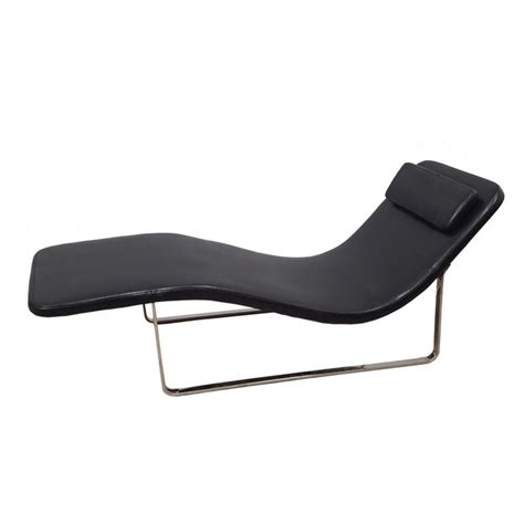 chaise black longa modern chaise lounge chair black