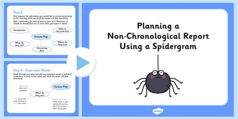 layout features ks2 planning a non chronological report using a spidergram