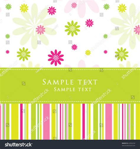 birthday card from baby template birthday card greeting card template stock vector