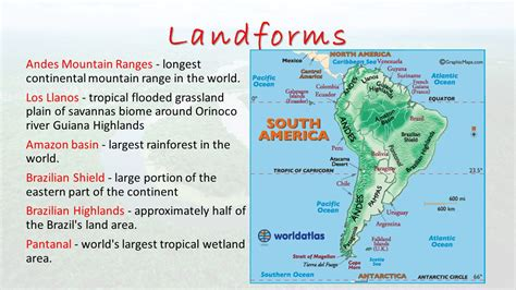 south america guiana highlands map south america session ppt