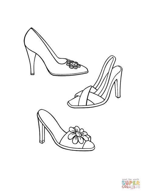 dress shoes coloring page coloriage chaussures 224 talon coloriages 224 imprimer