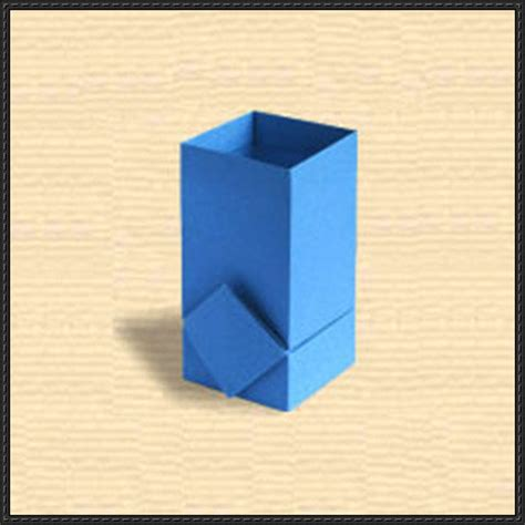 Origami Paper Holder - origami pen holder with decoration
