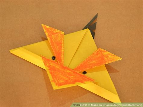 Origami Bird Beak - how to make an origami angry bird bookmark with pictures