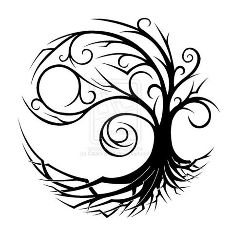 black n gray tattoo designs black n grey tree design