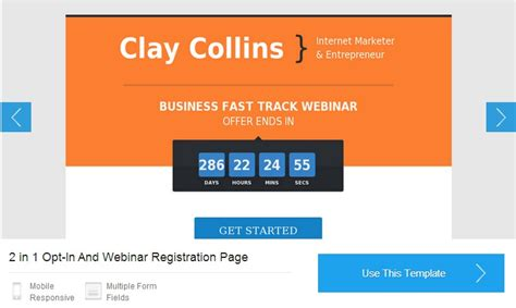 Leadpages Review Clay Collins Leadpages Webinar Template