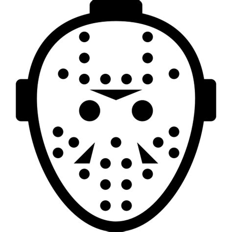 jason mask template evil jason killer mask icon icon