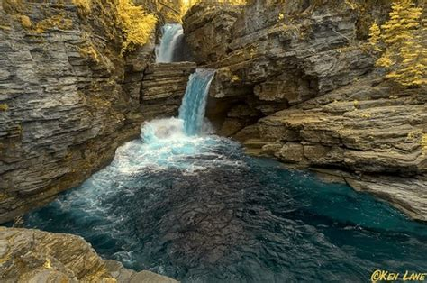 st mary falls glacier national park infrared    flickr