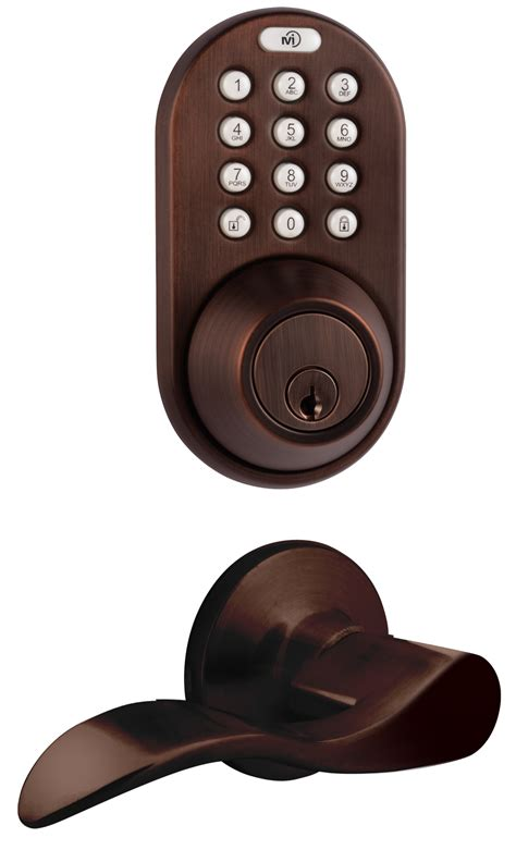 Door Lock Combo Pack by Milocks Dfl 02 Keyless Entry Deadbolt And Lever Handle Door Lock Combo Pack With Electronic