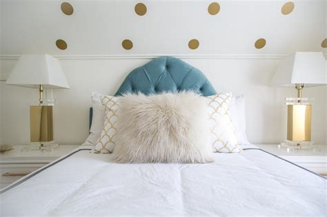 blue white and gold bedroom cozy up your home for winter with faux fur accessories