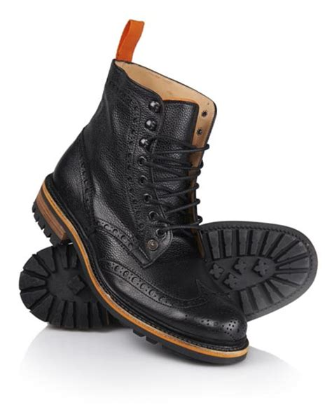 mens high boots mens grind high boots in black country calf superdry