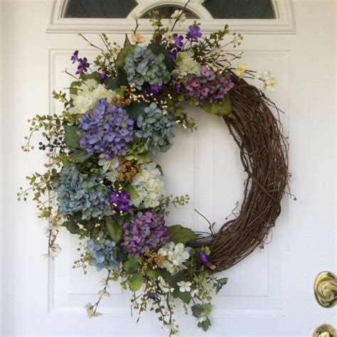 spring wreath ideas to make spring wreath hydrangea wreath spring wreath for door