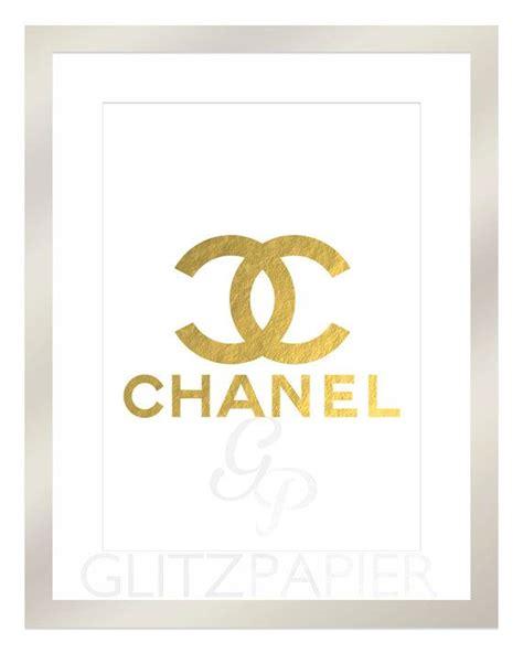 printable typography coco chanel quote gold foil gold lips coco chanel cc paris designer foil print art monogram sign