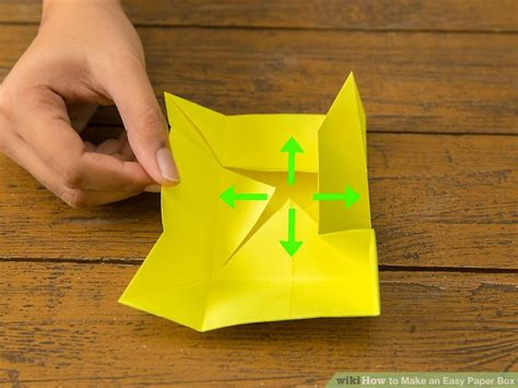 How To Make Boxes Out Of Paper - 4 ways to make an easy paper box wikihow