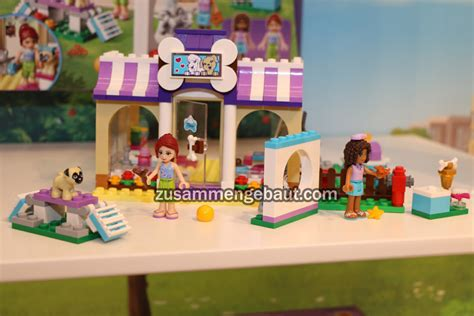 lego friends puppy daycare fair 2016 lego friends amusement park and club zusammengebaut