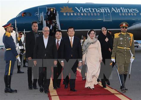 news iran president truong sang starts visit to iran news