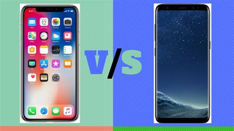 Iphone V Samsung by Samsung Galaxy S8 Vs Apple Iphone X Specifications Comparison