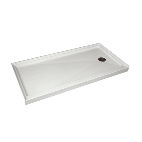 30 inch base acri tec single threshold retro fit shower base with right