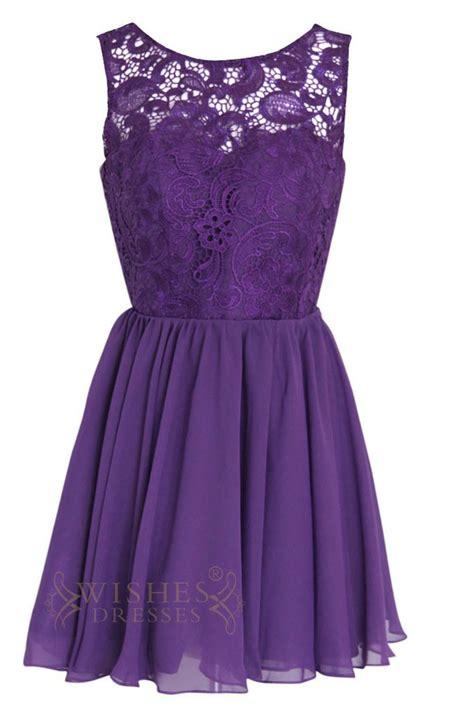 To Dress Violet a line illusion lace top purple bridesmaid dresses am113