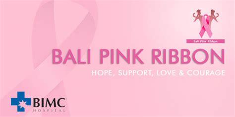 Bali Ribbena Pink bimc supports bali pink ribbon
