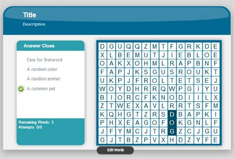 Word Search Game In Powerpoint Using Adobe Presenter 8 Word Powerpoint Templates