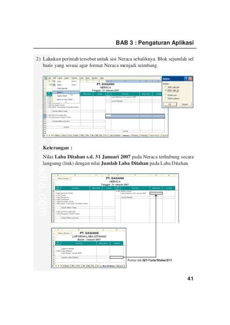 format neraca aplikasi akuntansi excel bab 3