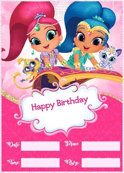 Shimmer And Shine Birthday Party Invitation Template Free Printable Invitation Templates Shimmer And Shine Invitations Templates