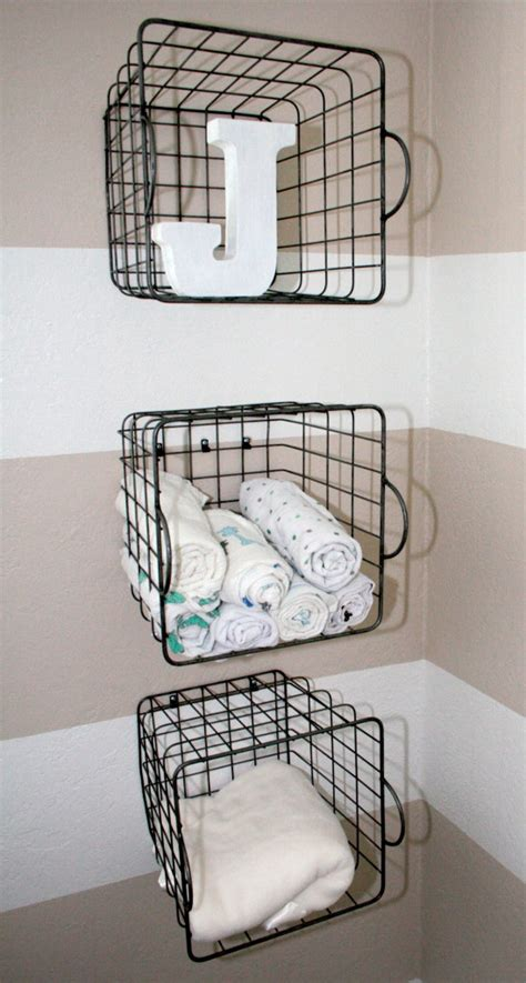 Simple Ideas For Hanging Wire Basket Clever Nursery Organization Ideas Project Nursery