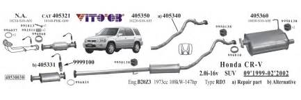 Honda Crv Exhaust System Diagram Honda Crv Exhaust Parts Images