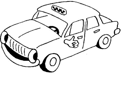 taxi coloring pages for kids