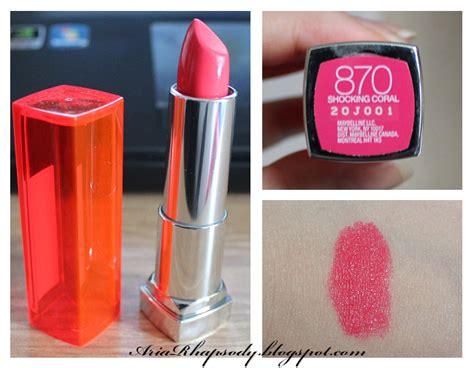 Maybelline Lipstick Shocking Coral ariarhapsody maybelline vivids collection shocking coral