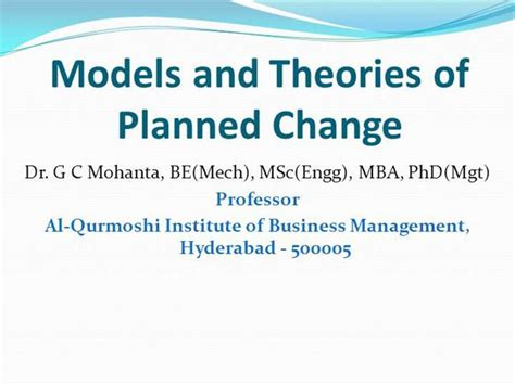 Business Administration Mba Phd Mba Jd Gc by Models Theories Of Planned Change In Od Authorstream
