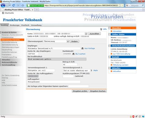 deutsche bank ebanking file screenshot ebanking bei der frankfurter volksbank png