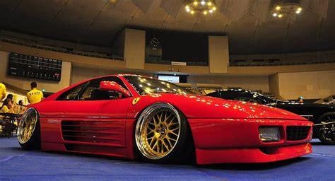 slammed ferrari someone thought a slammed ferrari was a good idea