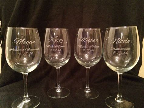 etched barware engraved barware 28 images 2 wine glasses for the engaged couple personalized wine