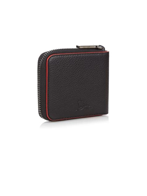 Card Holder Square Black Christian Louboutin Empire Square Spiked Wallet In Black