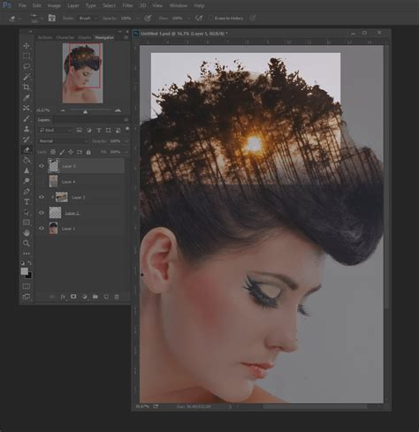 double exposure hair tutorial how to create double exposure effects in photoshop