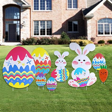 Best Photos Of Easter Yard Easter Yard Signs Easter Outdoor Decoration With Egg And