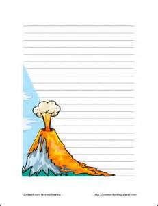 volcano printables volcano theme paper