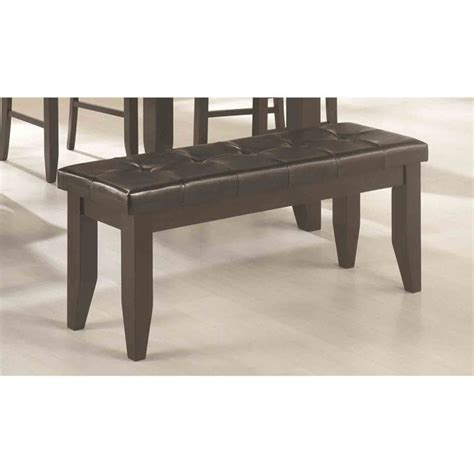 black dining bench coaster page contemporary tufted dining bench in black