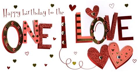 birthday card for crush to the one i happy birthday greeting card cards