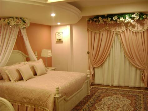 curtains decoration enchanting bridal bedroom lighting with curtains and