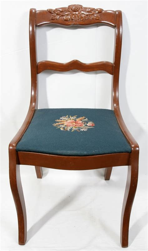 Duncan Phyfe Chair by 050507 Duncan Phyfe Style Mahogany Side Chair H 33